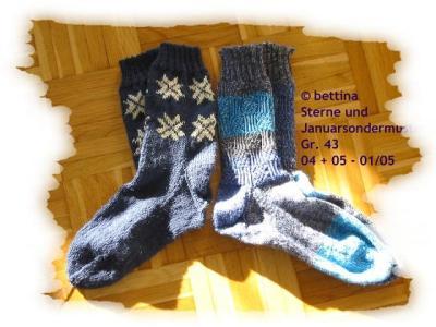 Socken mit Januarsondermuster